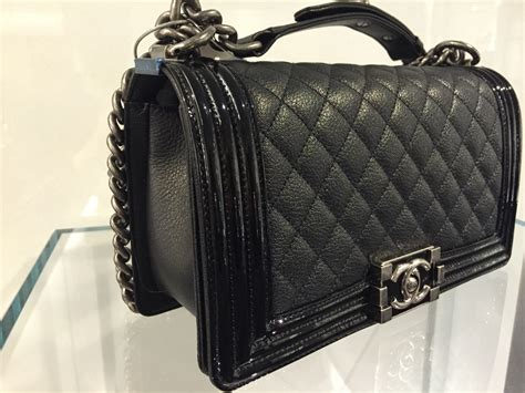 Chanel Boy Bag chanel boy bag with patent trim and goatskin from pre fall 2015 spotted fashion