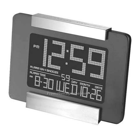clock jumbo digital desk table clock w alarm thermo