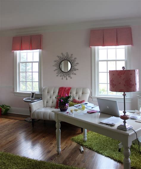 home office window treatments custom window treatments by chalk modern home office other metro by chalk