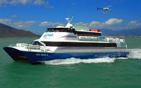 reef experience catamaran cairns dive trip for those with sea sickness pontoon
