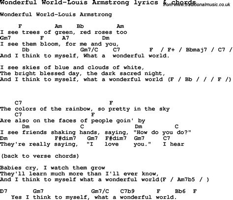 ukulele tutorial what a wonderful world love song lyrics for wonderful world louis armstrong with
