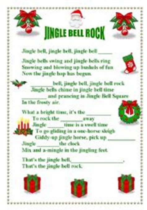 testo canzone jingle bell rock exercises jingle bell rock