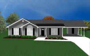 House Plans With Carport by House Plans For 1490 Sq Ft 3 Bedroom House W Carport Ebay