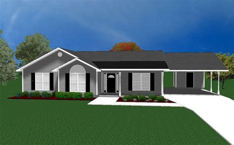 House Plans For 1490 Sq Ft 3 Bedroom House W Carport Ebay House Plans With Carport