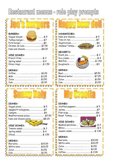4 best images of free printable template restaurant menus