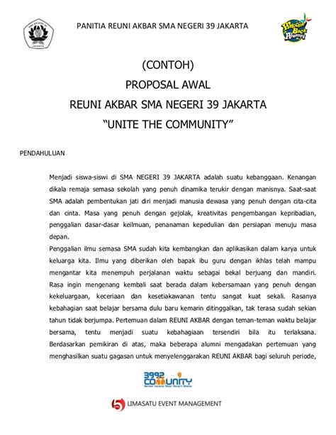 contoh format proposal business plan contoh proposal reuni akbar sma negeri 39
