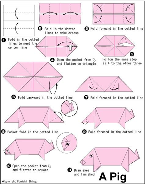 Origami Pig - 1000 images about folding paper origami on