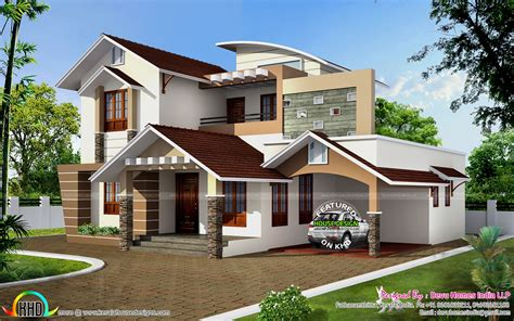 south facing vastu home in 2448 sq ft kerala home design