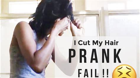 My Husband Cuts My Hair Youtube   prank i cut my hair prank i cut my hair prank on husband
