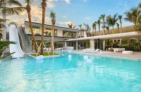 house miami miami beach spec house with two story waterslide lists for 34 million mansion global