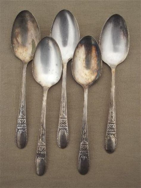 vintage wallace silver plate flatware sweetheart hollywood pattern