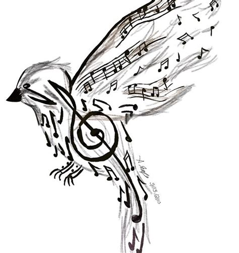 music bird tattoo note bird note bird
