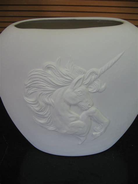 ready to paint ceramic bisque unicorn pillow vase u paint