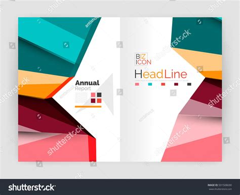 Annual Report Template Circle And Triangles Hossain Vector Triangle Design Abstract Background Business