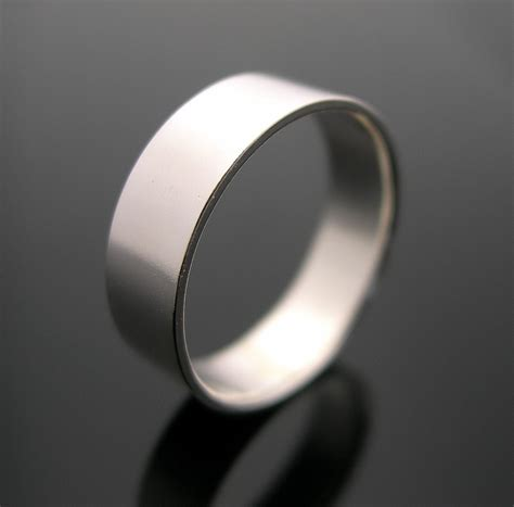 silver ring plain silver band mens band