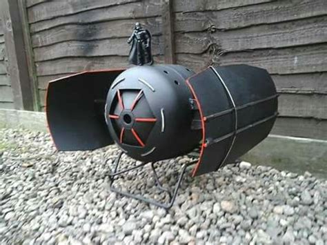 Patio Wood Burners Darth Vader Showing Off His Imperial Tie Fighter Fire Pit