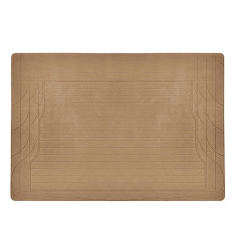 trunk cargo floor mat beige odorless utility rubber liners