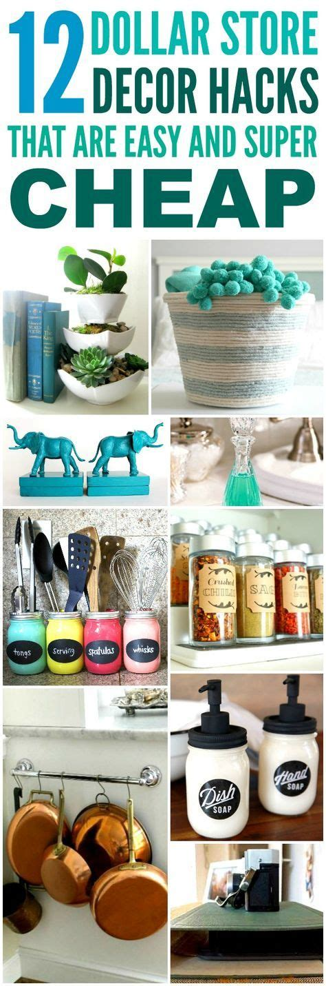 decor hacks great tips and tricks to make creating these 12 dollar store decor hacks are the best i m so