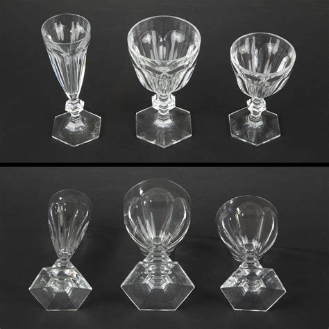 baccarat crystal barware baccarat crystal glasses delicately engraved and gilt