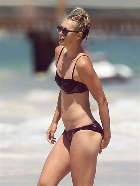 Maria Sharapova Bikini Candids In Cancun Gotceleb