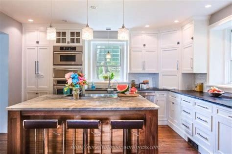 country kitchen designs layouts white country kitchen remodel with marble backsplash