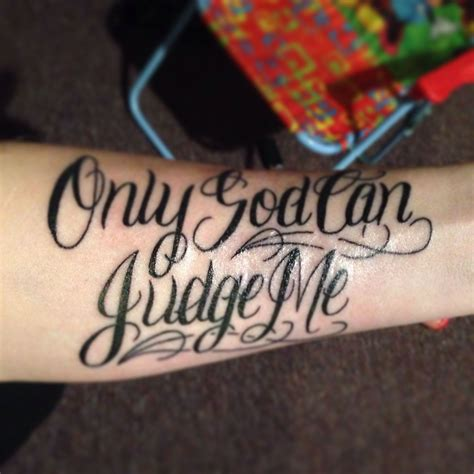 only god can judge me tattoo only god can judge me