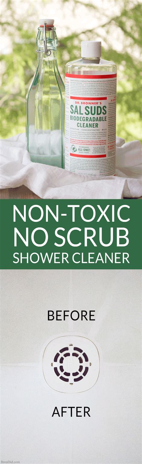 best non toxic bathroom cleaner non toxic no scrub shower cleaner bren did