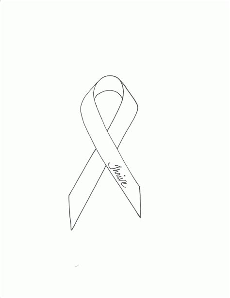awareness ribbon coloring page coloring home