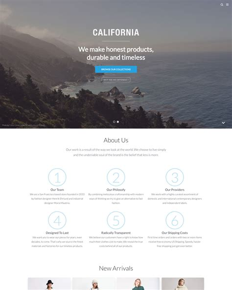 shopify themes california kentia theme california ecommerce website template