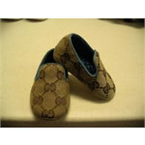 authentic gucci baby infant crib shoes size 15 gg 08 05 2009