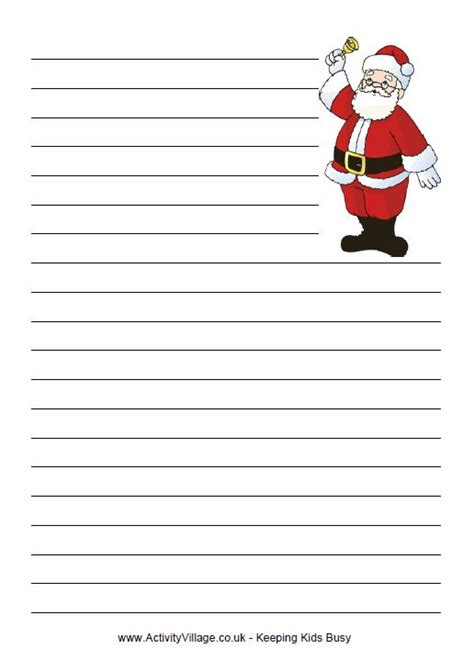 santa writing paper santa writing paper school writing ideas