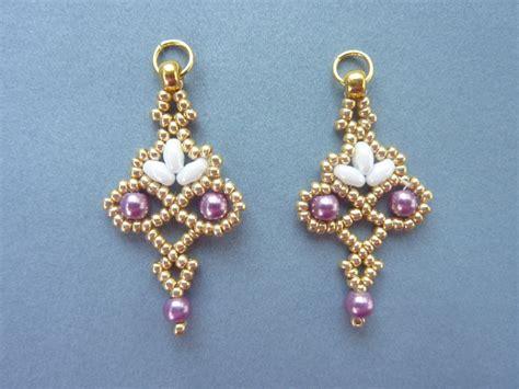 free earring patterns seed free beading pattern for floret earrings