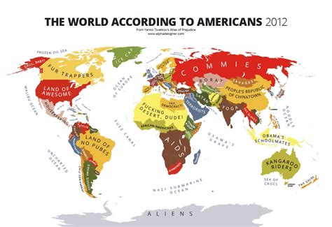 map world according to hilarious stereotype maps cleverly reveal cultural