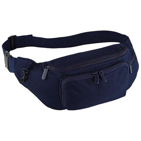 The Return Of The Bum Bag by New Quadra Classic Travel Belt Hip Bum Bag In Black Navy