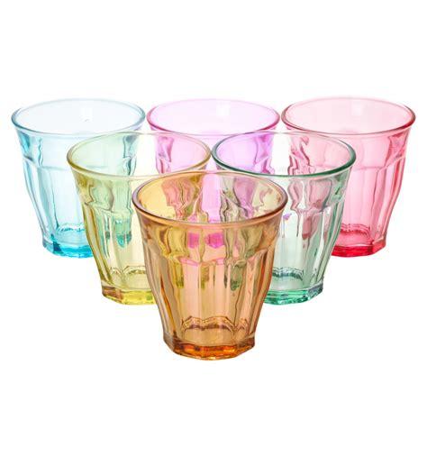 colored glasses sets colored glassware hummingbird colored glassware set of 4