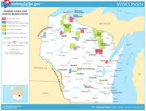 indian reservations map map of wisconsin map federal lands and indian
