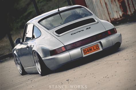 slammed porsche john peden s porsche 964 on hydraulic suspension