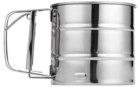 Flour Sifter Intl stainless steel manual baking icing flour sugar sifter
