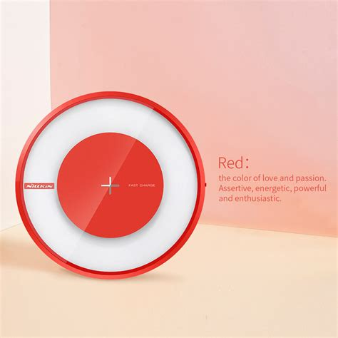 Nillkin Magic Disc 4 Fast Charger Qi Wireless Charging Pad Led nillkin qi wireless charger magic disk 4 fast charge