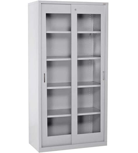 locking storage cabinet in pantry shelving