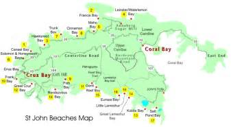 beaches map st