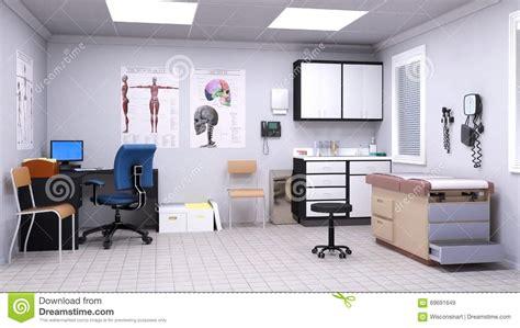oficina first medical medical hospital doctor examination room stock