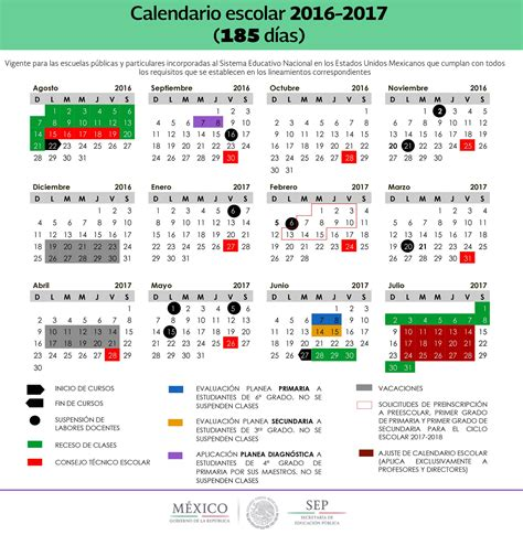 calendario escolar 2016 2017 mexico calendario escolar sep 2016 2017 uno de 200 d 237 as y otro