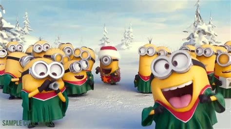 minions wishing merry christmas   logo    logo reveal  minions youtube