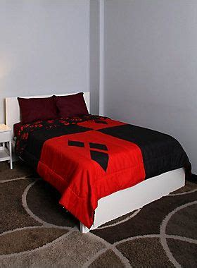 Harley Quinn Bed Set Sized Comforter From Dc Comics With A And Black Harley Quinn Design Sheets And
