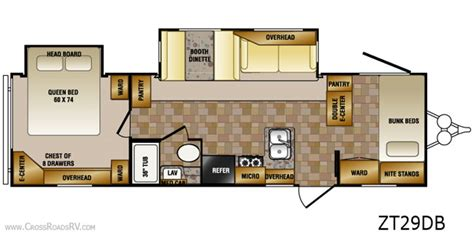 bunkhouse rv floor plans 5th wheel cers floor plans http www roamingtimes com rvreports 7 images frompo