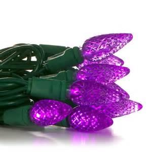 50 c6 purple led christmas light set primo lights