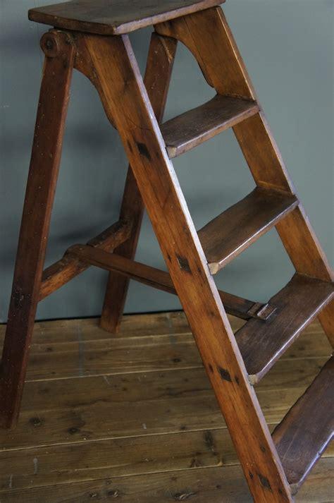 wooden nz sold vintage wooden step ladder