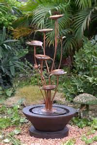 lotus outdoor garden fountain ideas 1614 hostelgarden net