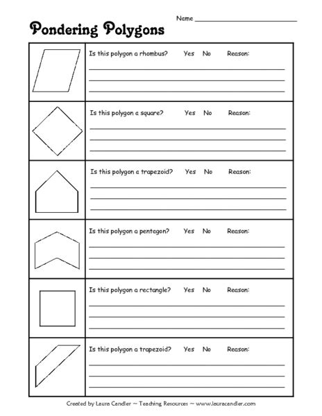 Classifying Polygons Worksheet by Classifying Polygons Worksheet 3rd Grade Quadrilateral